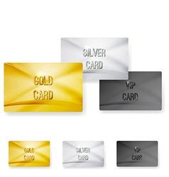 Premium club member vip status card templates vector image