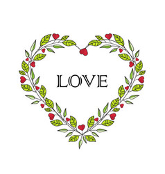 Romantic heart decoration vector