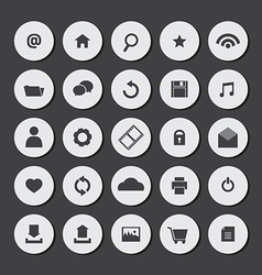 Round Flat Website Icons Set vector image vector image