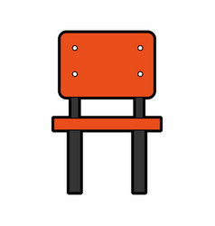 school chair isolated icon vector image vector image
