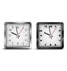 Square clock vector