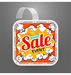 Square wobbler design template autumn sale event vector