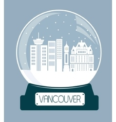 Vancouver chtistmas glass ball vector