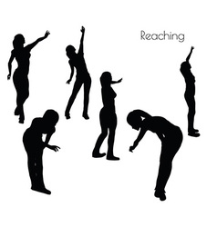 Woman in reaching pose vector