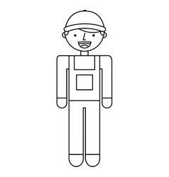 Builder character isolated icon vector