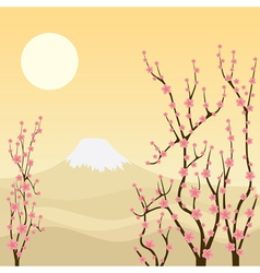 Sakura tree vector