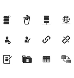 12 web tool icons vector