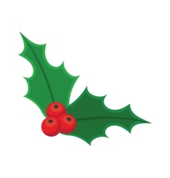 Holly berry christmas vector