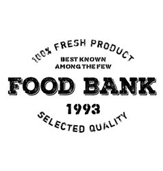 Food bank stamp vector