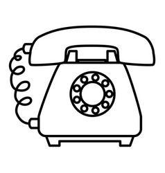 Phone service isolated icon vector