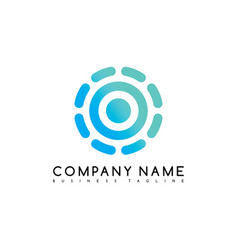 round circle logo logotype brand template art vector image