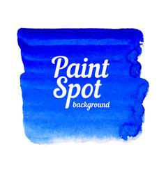 Blue paint spot banner vector