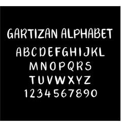Gartizan alphabet typography vector