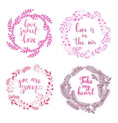 Set of wreath love vector