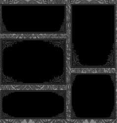 Gothic frame set vector