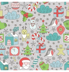 Christmas seamless patter vector