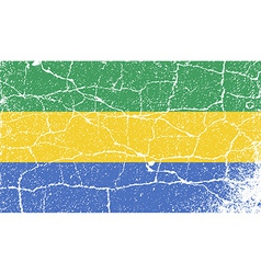 Flag of gabon with old texture vector