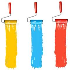paint roller brush vert vector image