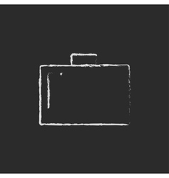 Briefcase drawn in chalk vector