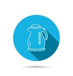 Kettle icon kitchen teapot sign vector