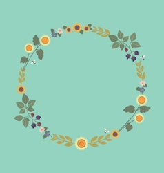 August wreath vector