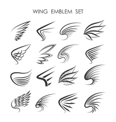 Wing logo set vector
