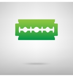 Razor blade green icon vector
