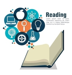 reading books design vector image