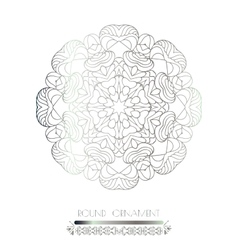 Indian lace pattern vector