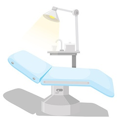 Dental chair and other equipments vector