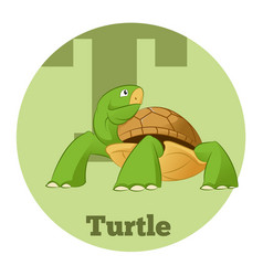 Abc cartoon turtle3 vector