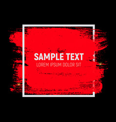Abstract brush stroke designs texture with frame vector