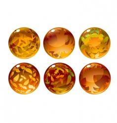 autumn balls vector image vector image