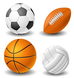 Ball set vector image vector image