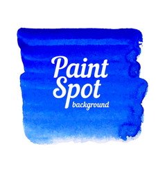 Blue paint spot banner vector