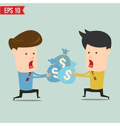 Cartoon business man snatching money - - EPS vector image