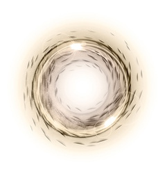circle abstract brown vector image