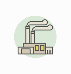 Factory and plant colorful icon vector