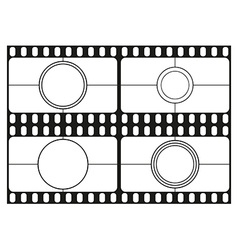 Film countdown templates movie theater frame vector