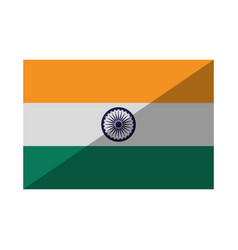flag of india isolated icon vector image
