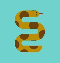 flat icon stylish background wildlife snake vector image