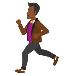 Happy man jogging vector