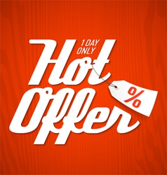 Hot Offer poster vector image vector image