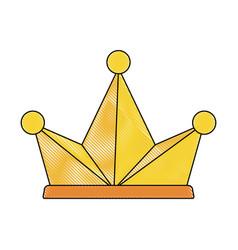 king crown symbol vector image