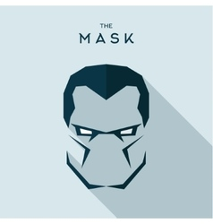 Mask anti hero villain head to look seriously the vector image vector image
