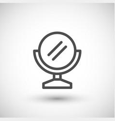 Mirror line icon vector