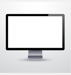 Modern LCD monitor vector image