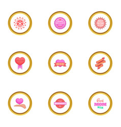 mothers day icons set cartoon style vector image