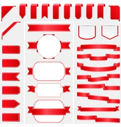 Red Ribbons vector image vector image