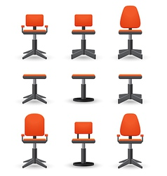 set of office chair vector image vector image